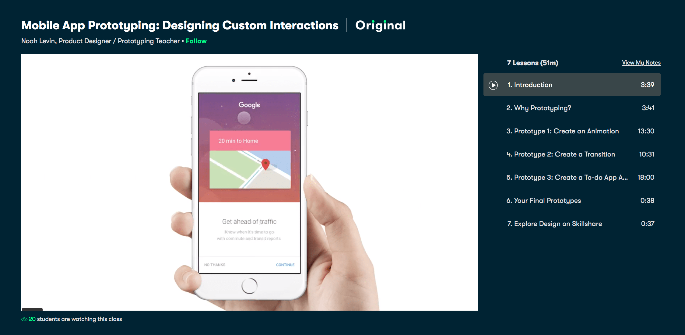 Mobile App Prototyping- Designing Custom Interactions – Skillshare Course Review