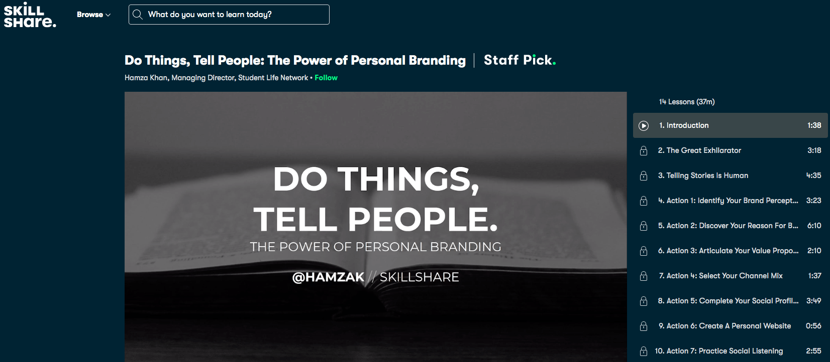 Do Things, Tell People- The Power of Personal Branding