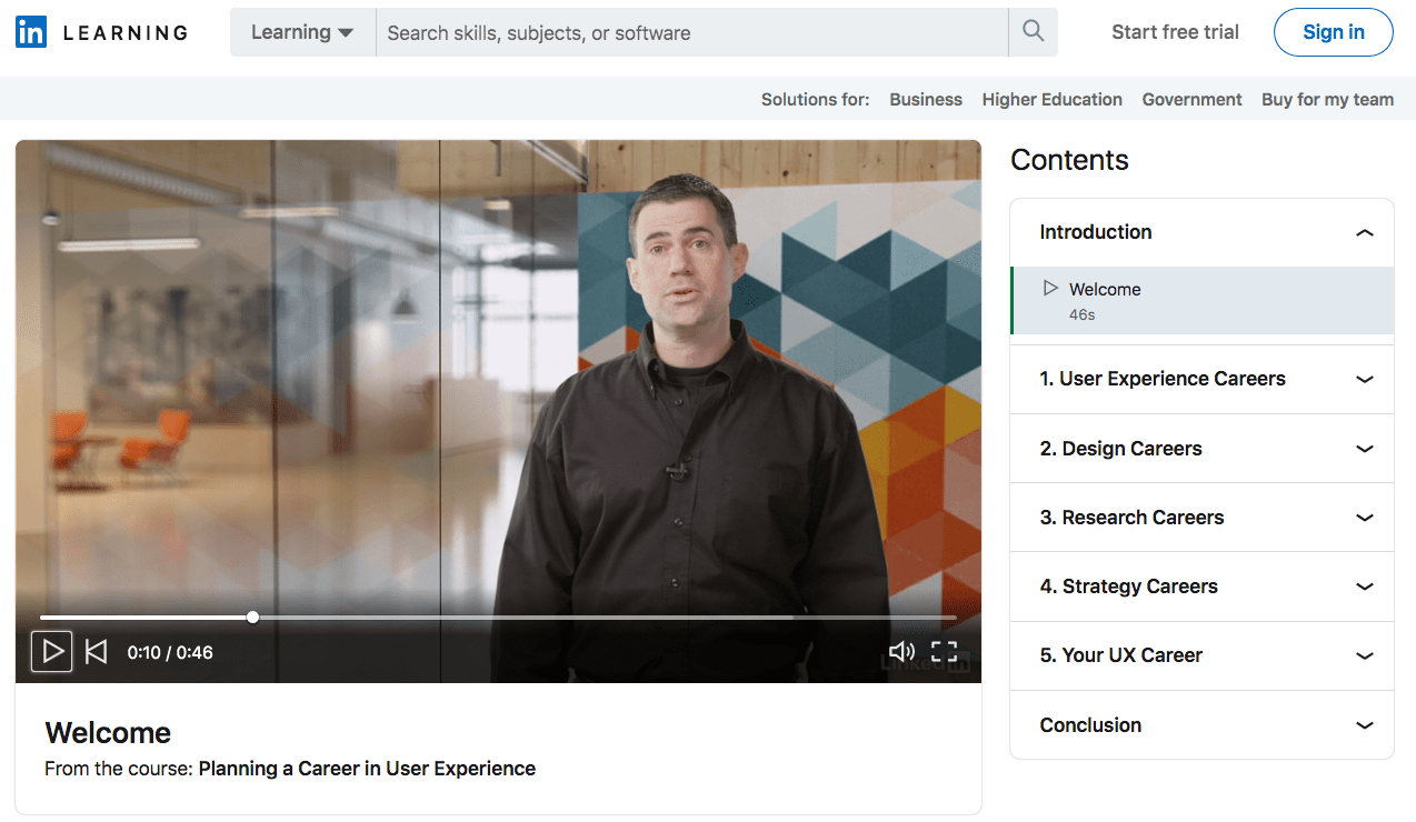 Planning a Career in User Experience - LinkedIn Learning Course Review