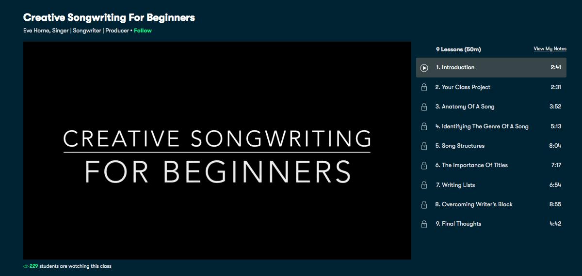 Creative SongWriting for Beginners - Skillshare