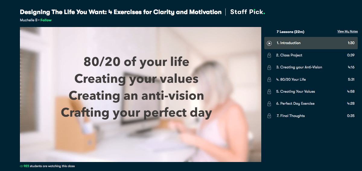 Designing the Life You Want- 4 Exercises for Clarity and Motivation - Skillshare