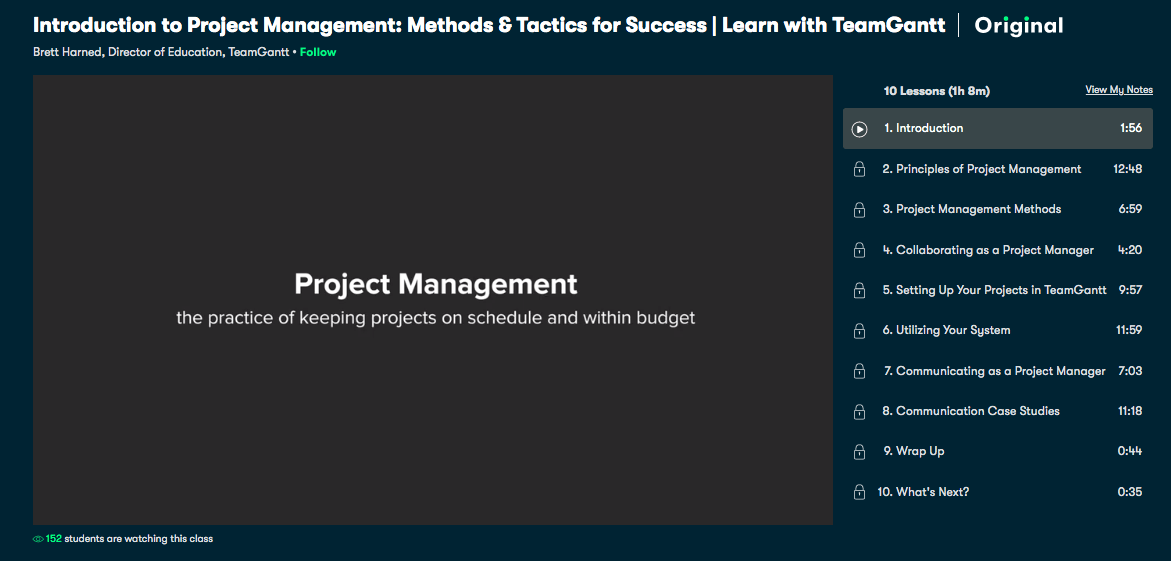 Introduction to Project Management- Methods & Tactics for Success - Skillshare