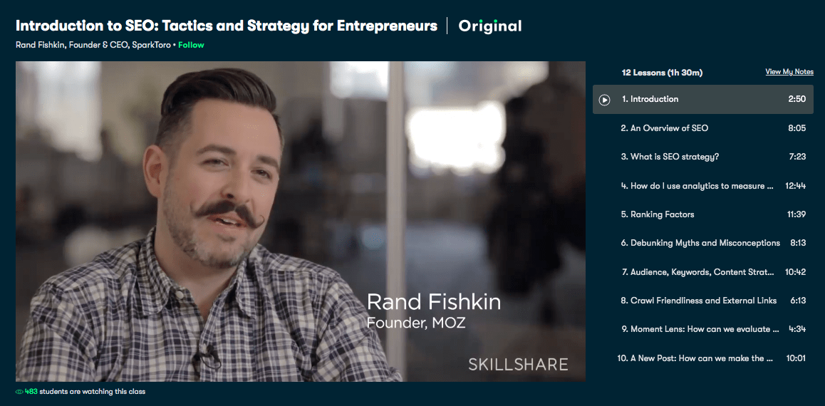 Introduction to SEO- Tactics and Strategy for Entrepreneurs - Skillshare