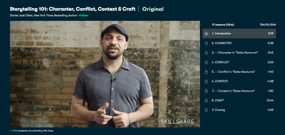 Storytelling 101- Character, Conflict, Context & Craft - Skillshare