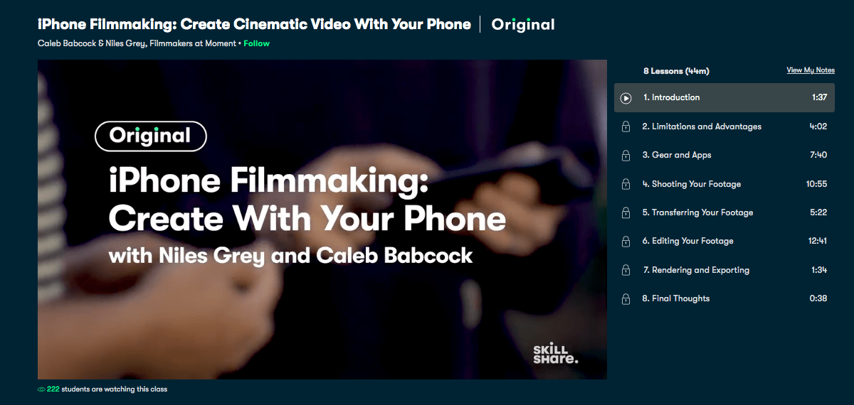 iPhone Filmmaking- Create Cinematic Video with your Phone - Skillshare