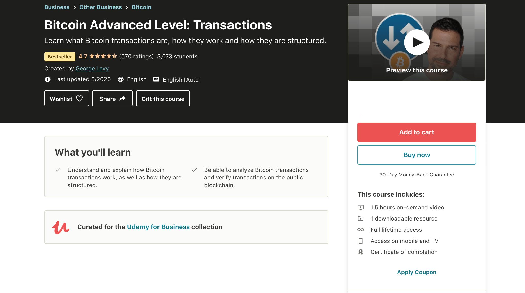 Bitcoin-Advanced-Level-Transactions-Udemy
