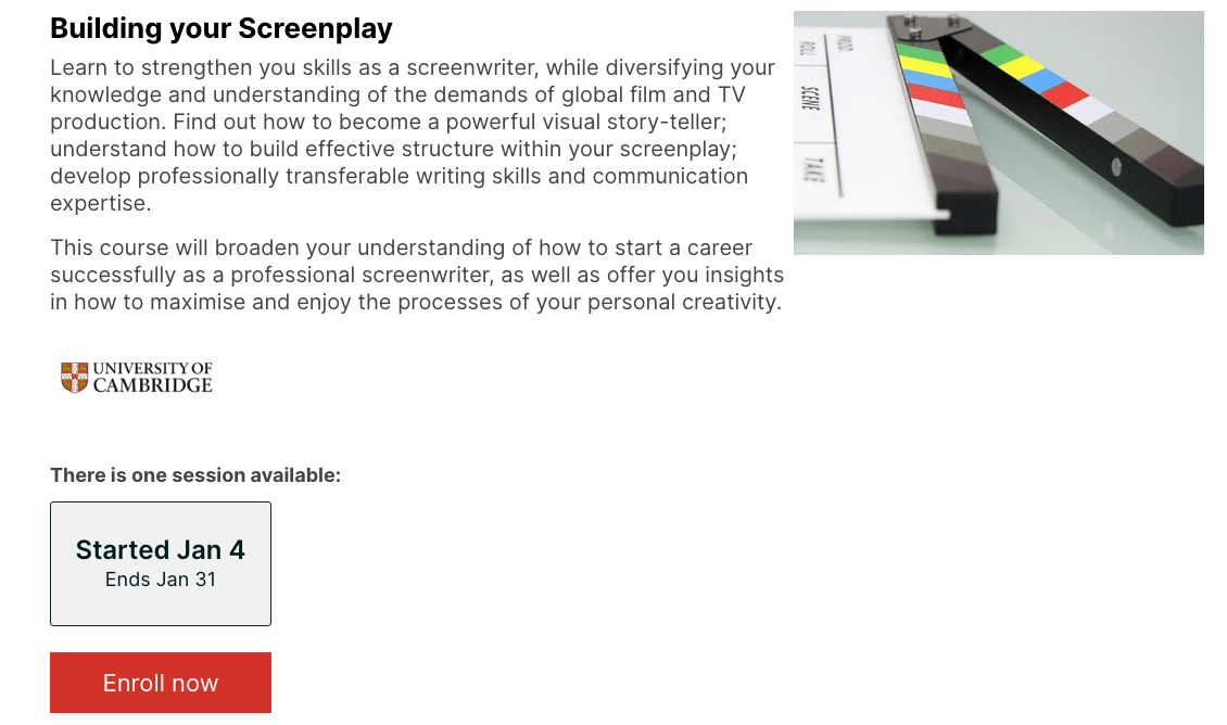 Build Your Screenplay – edX