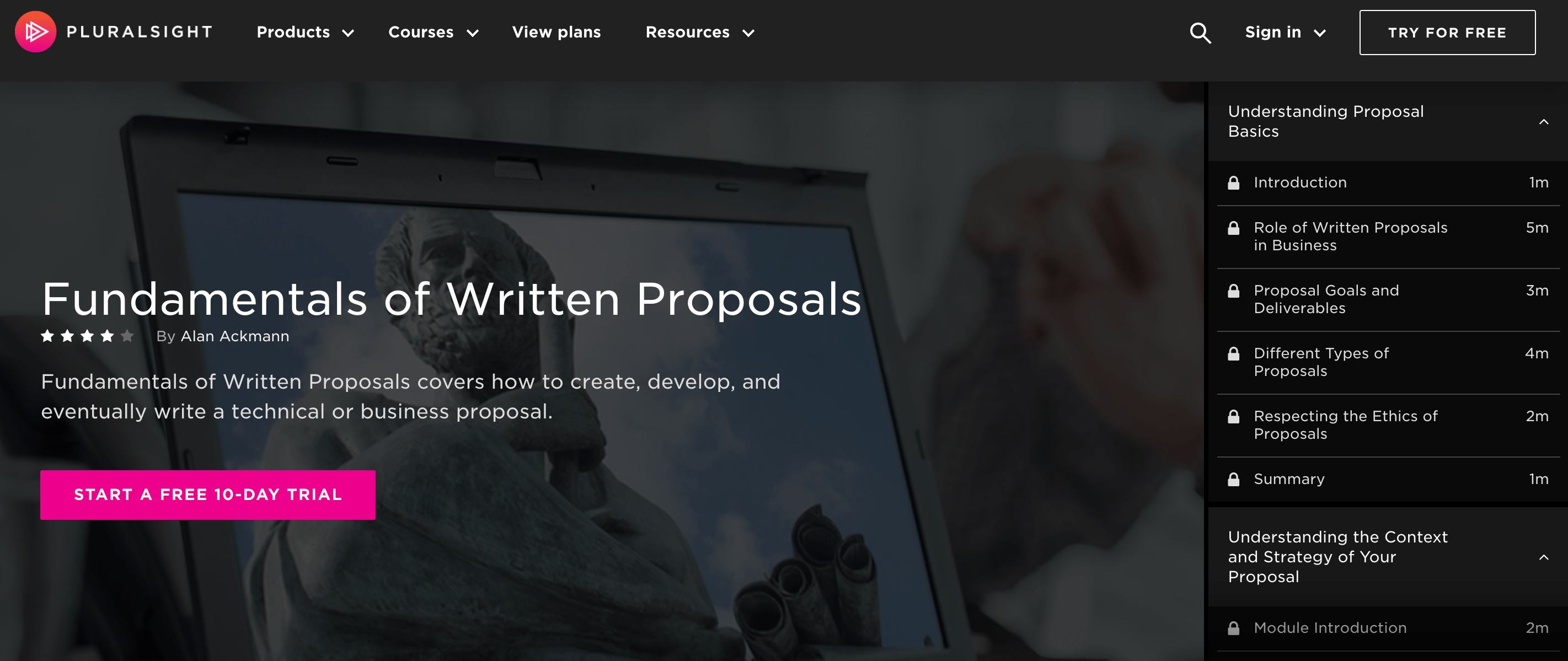 Fundamentals-of-Written-Proposals-Pluralsight