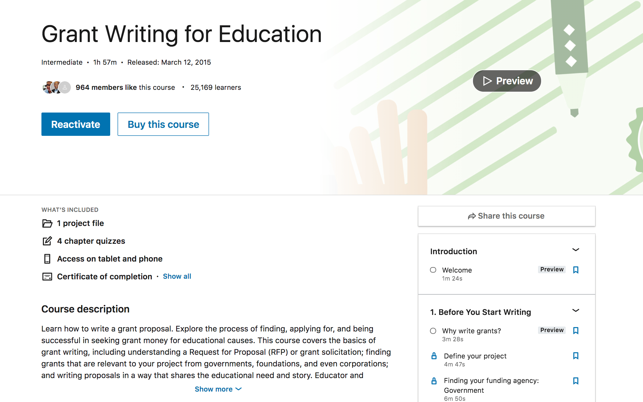 Grant Writing For Education - LinkedIn Learning