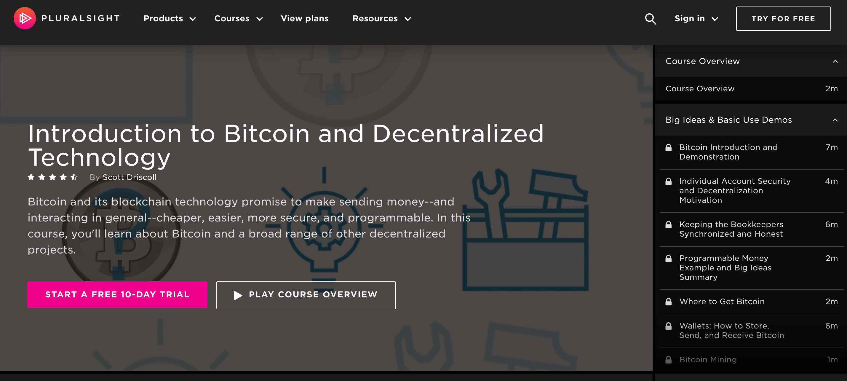 Introduction-to-Bitcoin-and-Decentralized-Technology-Pluralsight