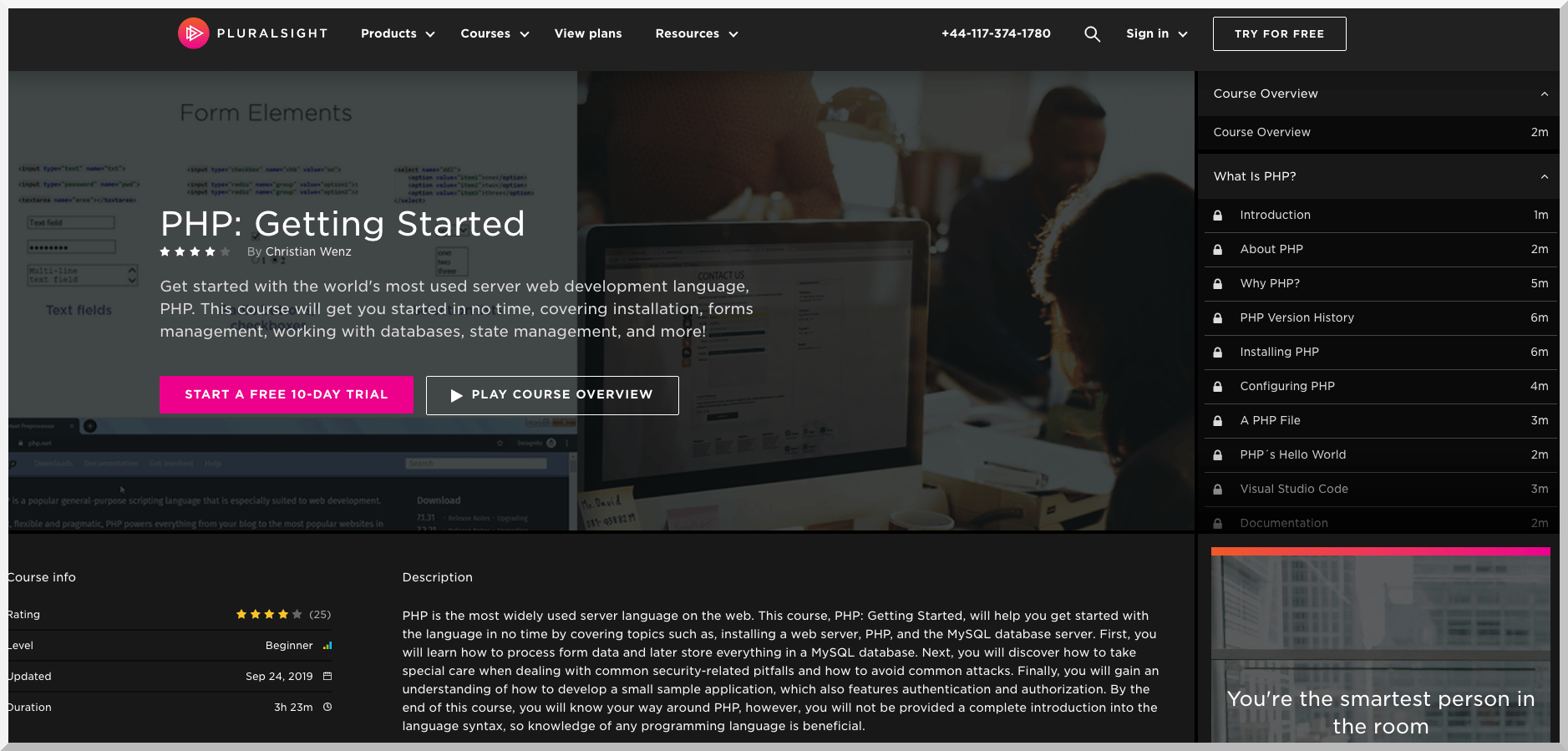 PHP Getting Started – Pluralsight
