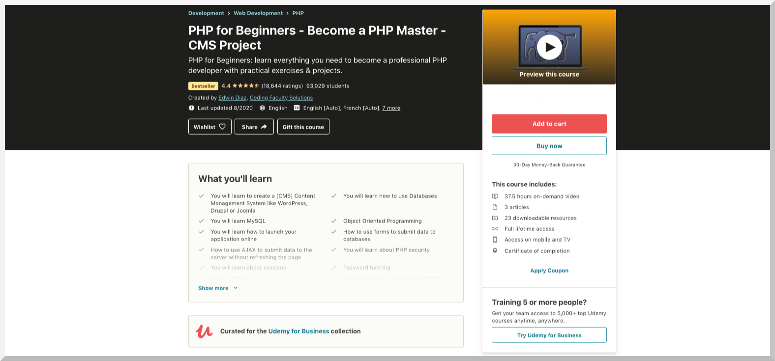 PHP for Beginners- Become a PHP Master CMS Project Udemy