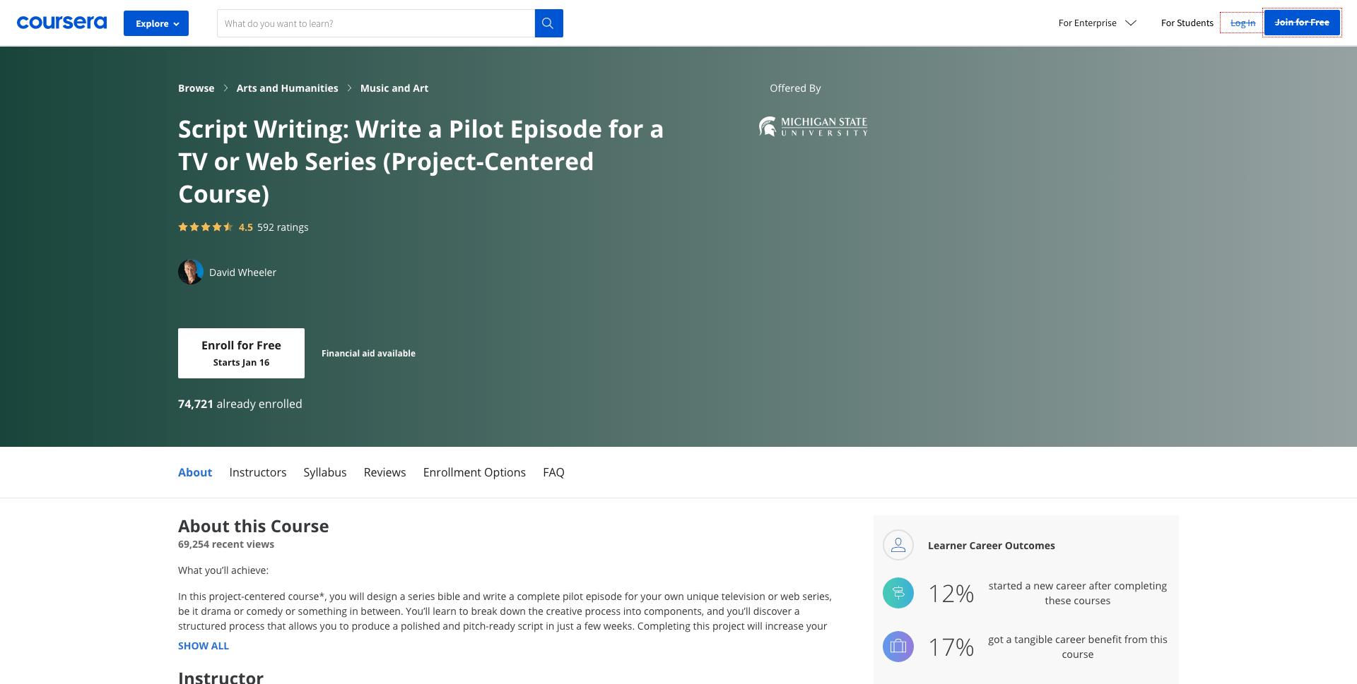Scriptwriting- Coursera