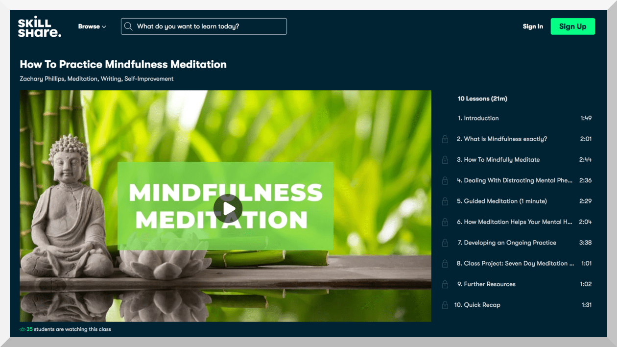 Skillshare – How To Practice Mindfulness Meditation