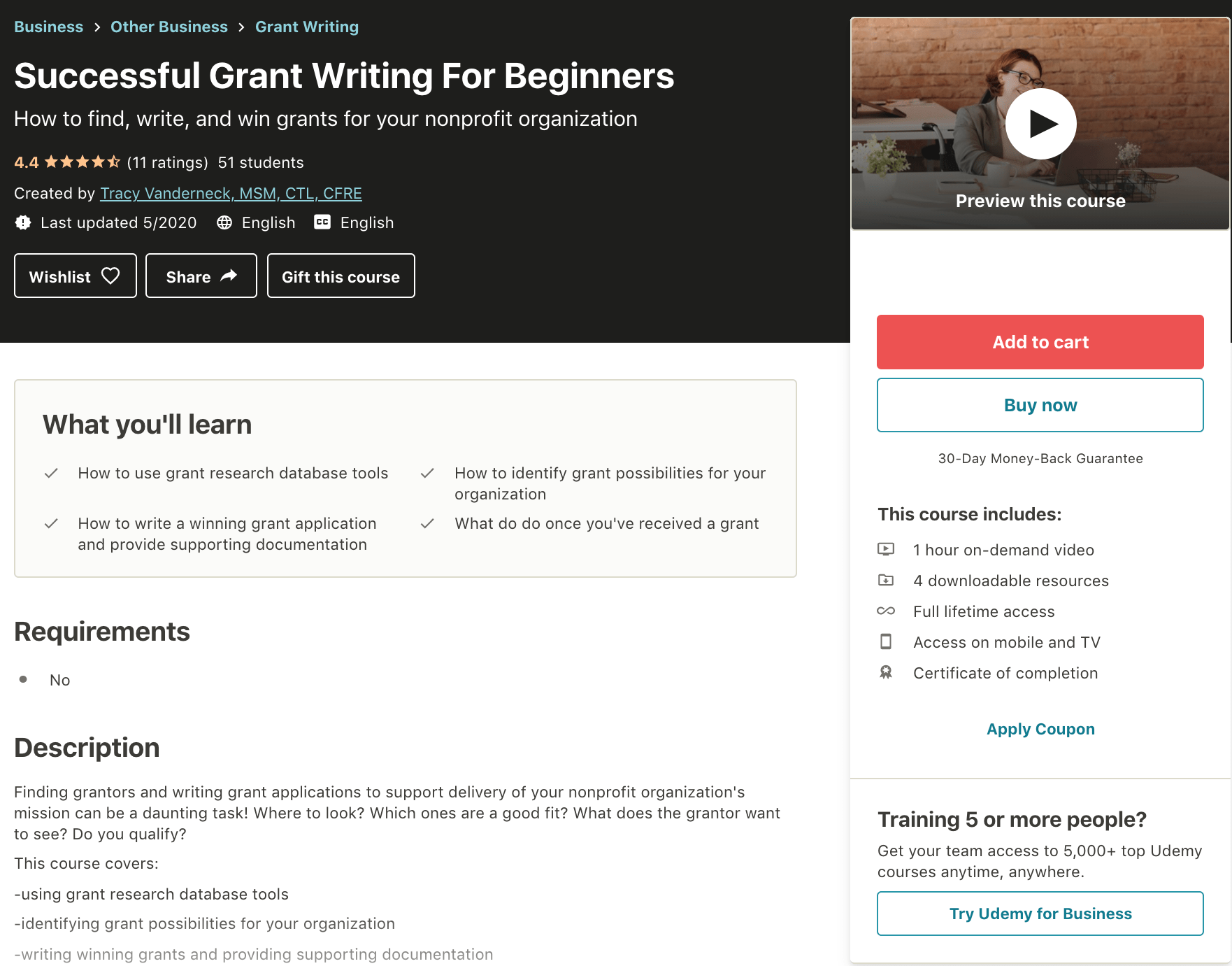 Successful-Grant-Writing-For-Beginners-Udemy