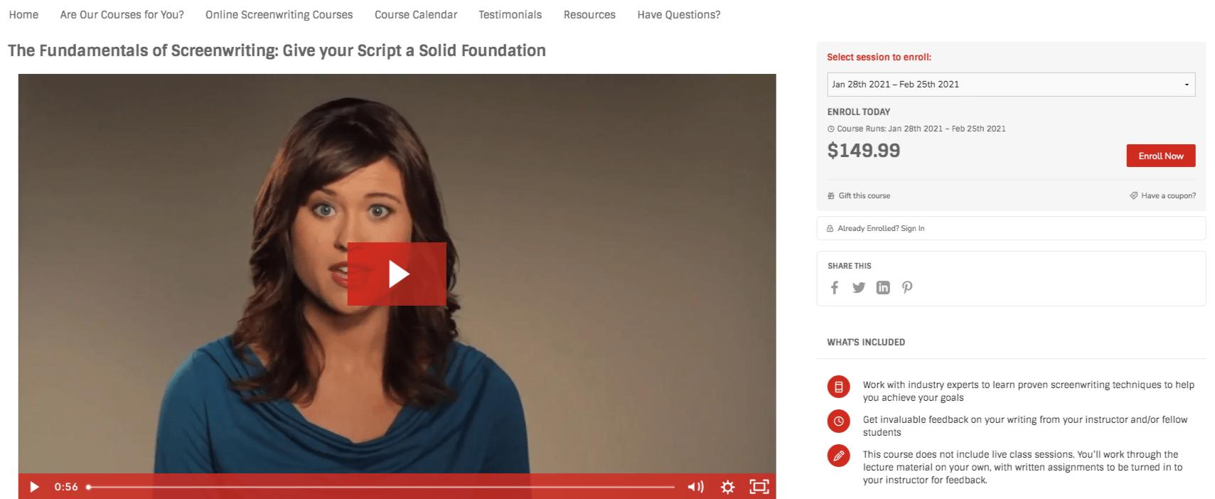The Fundamentals of Screenwriting - Script University (Screenwriter University)