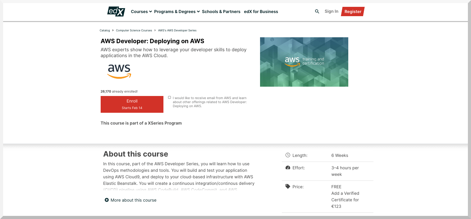 AWS Developer- Deploying on AWS – edX