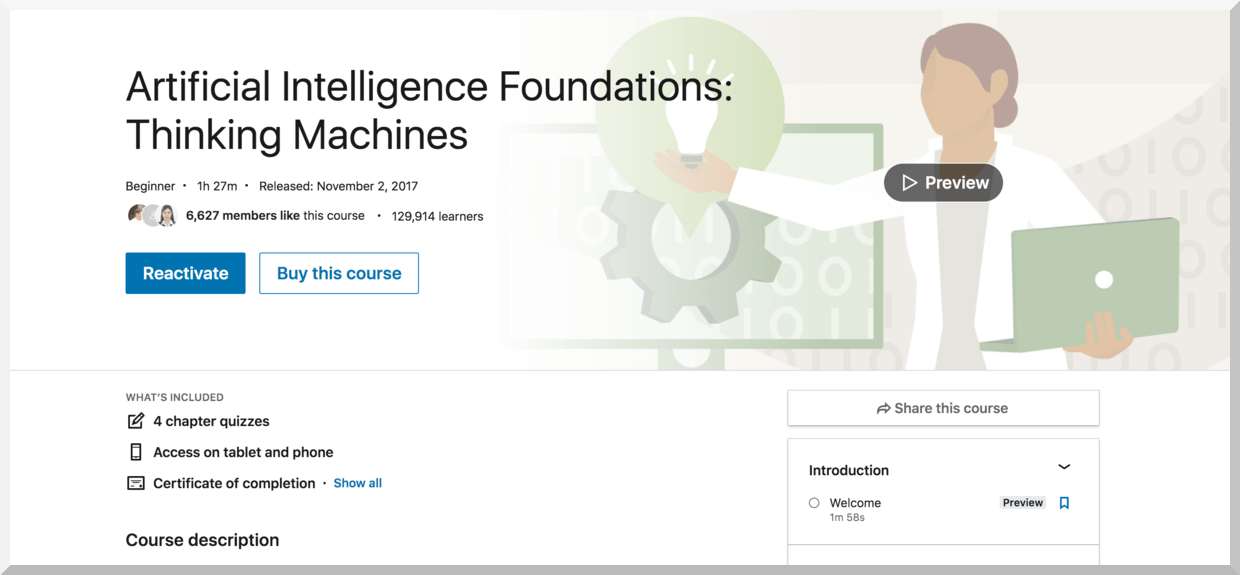 Artificial Intelligence Foundations- Thinking Machines – LinkedIn Learning