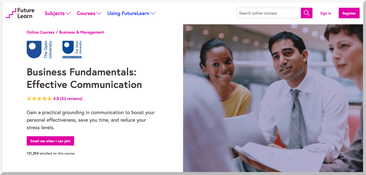 Business Fundamentals- Effective Communication – FutureLearn