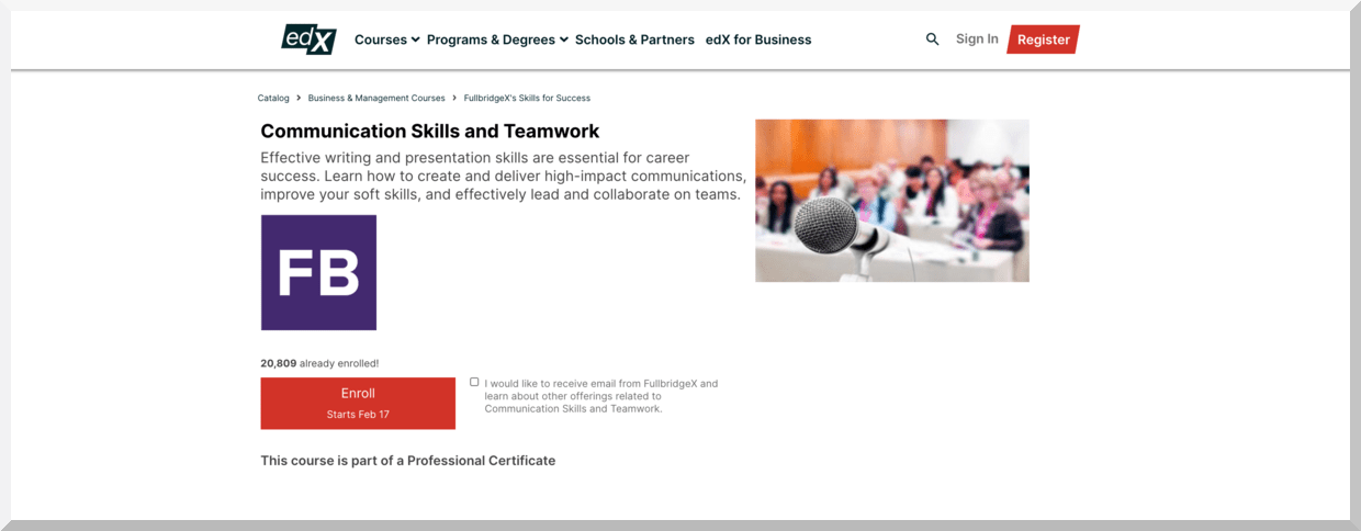 Communication Skills and Teamwork – edX
