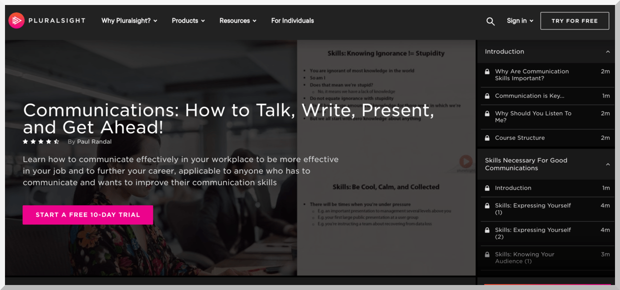 Communications- How to Talk, Write, Present, and Get Ahead – PluralSight