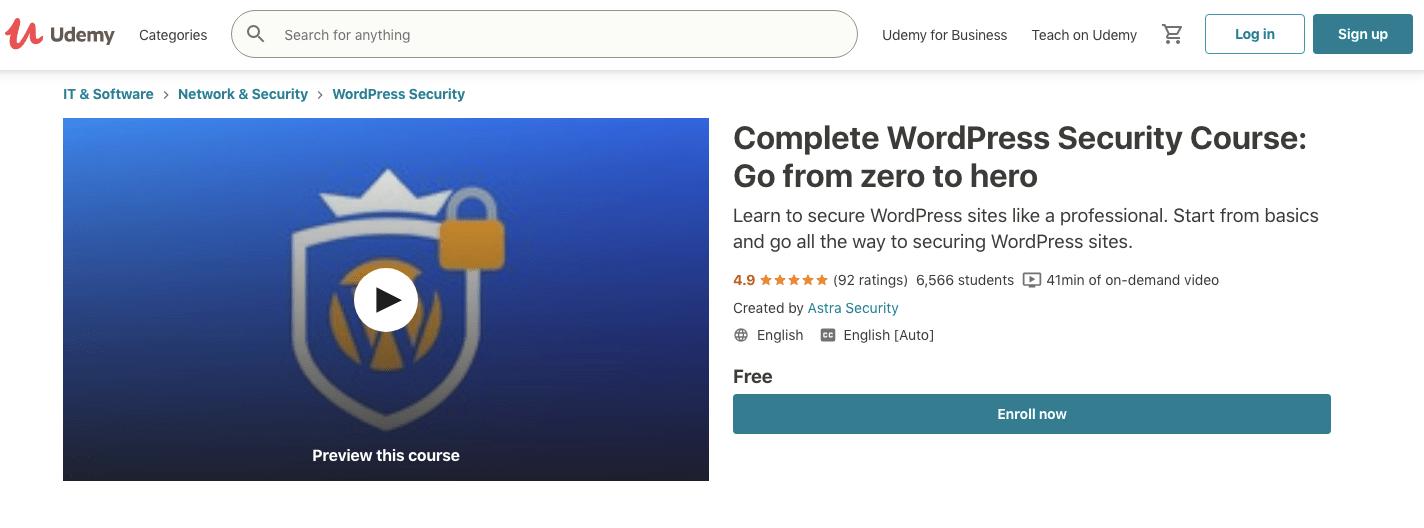 Complete WordPress Security Course- Go from zero to hero