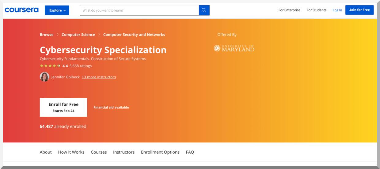 Cybersecurity Specialization – Coursera