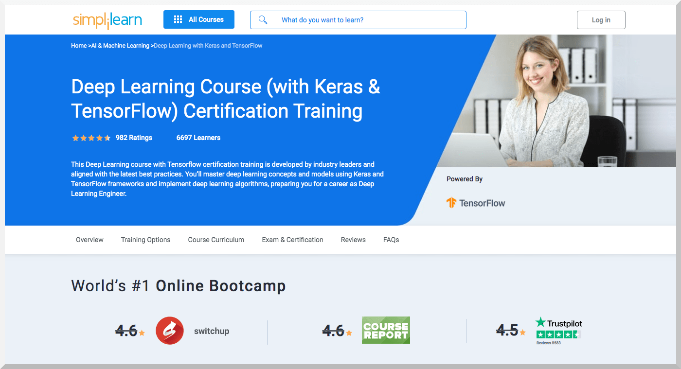 Deep Learning (with Keras and TensorFlow) Certification Training – Simplilearn