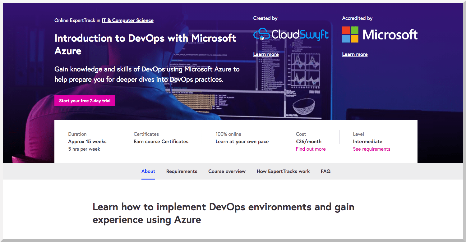 Introduction to DevOps with Microsoft Azure – FutureLearn