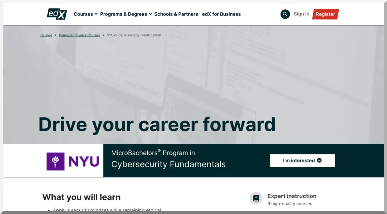 MicroBachelors Program in Cybersecurity Fundamentals – edX