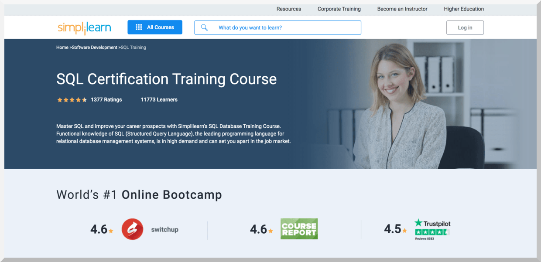 SQL Certification Training Course – Simplilearn