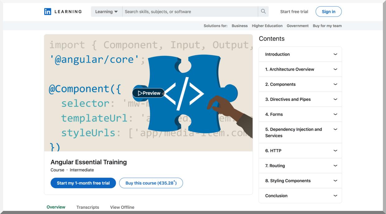 Angular Essential Training – LinkedIn Learning