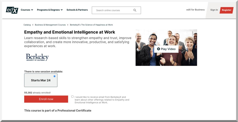 Empathy and Emotional Intelligence at Work – edX