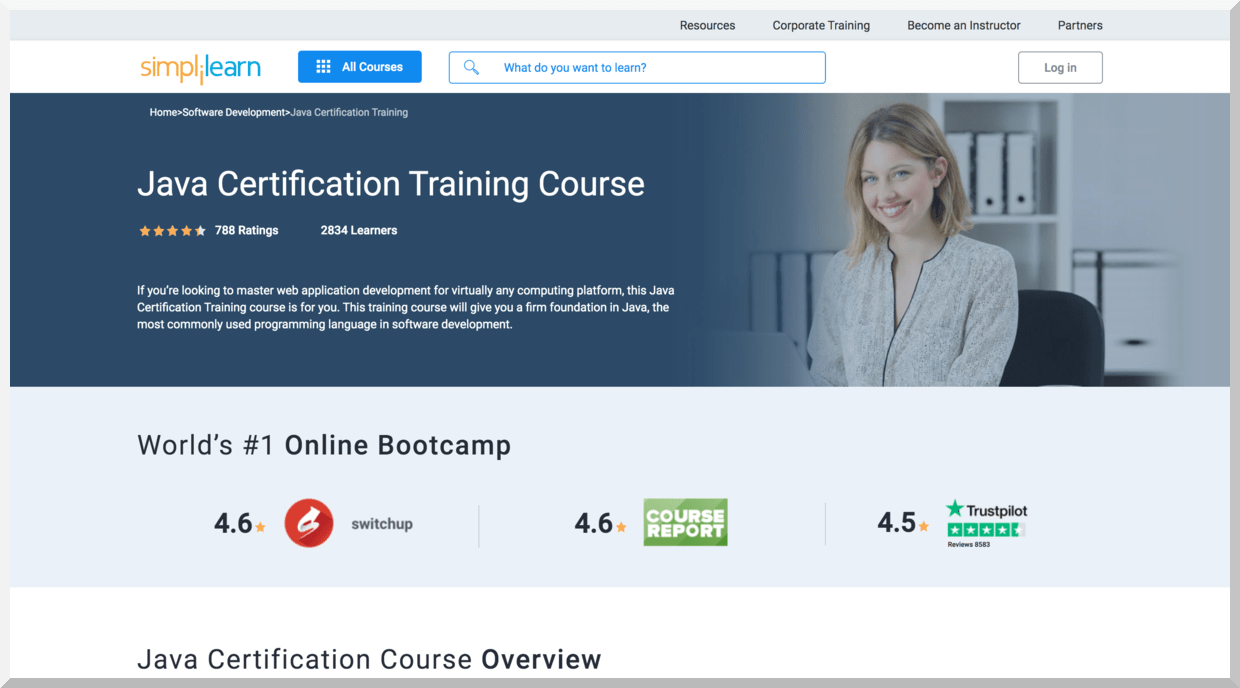 Java Certification Training Course – SimpliLearn