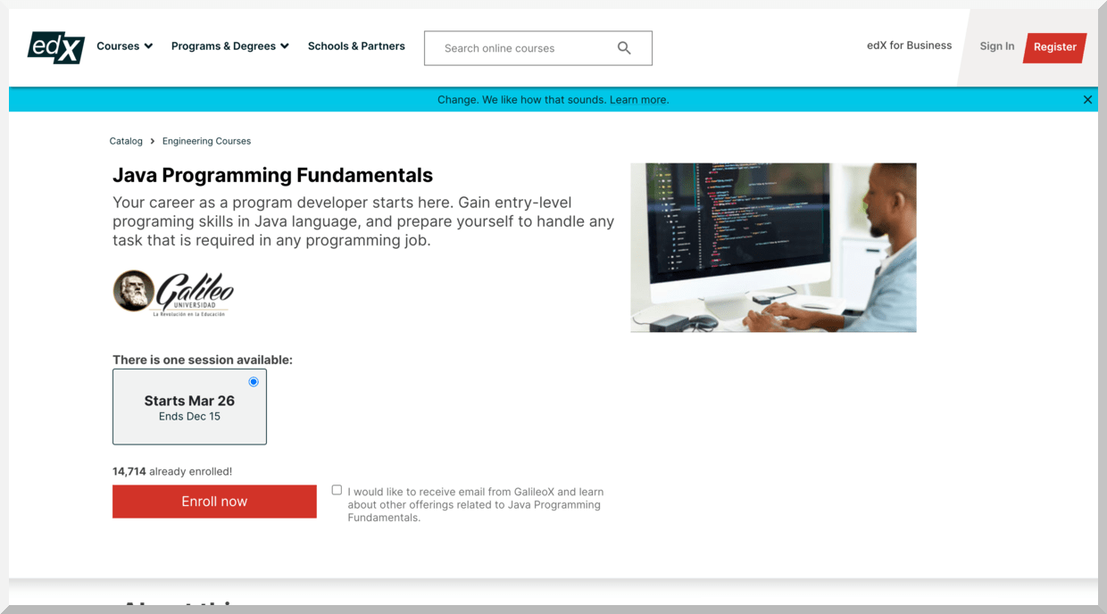 Java Programming Fundamentals – edX