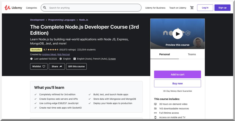 The Complete Node.js Developer Course – Udemy