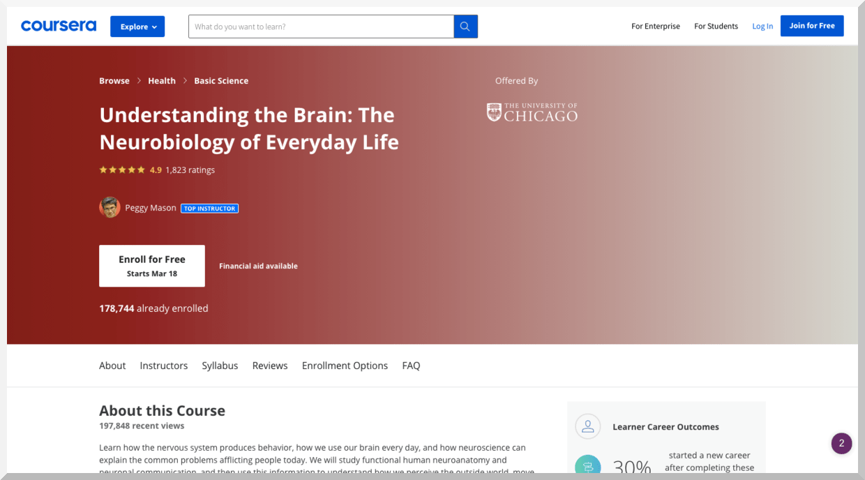 Understanding the Brain- The Neurobiology of Everyday Life – Coursera