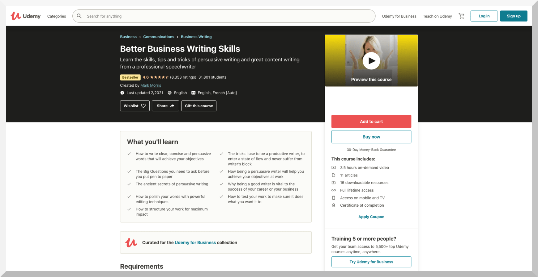 Better Business Writing Skills – Udemy