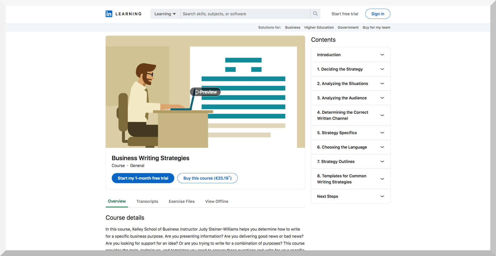 Business Writing Strategies – LinkedIn Learning