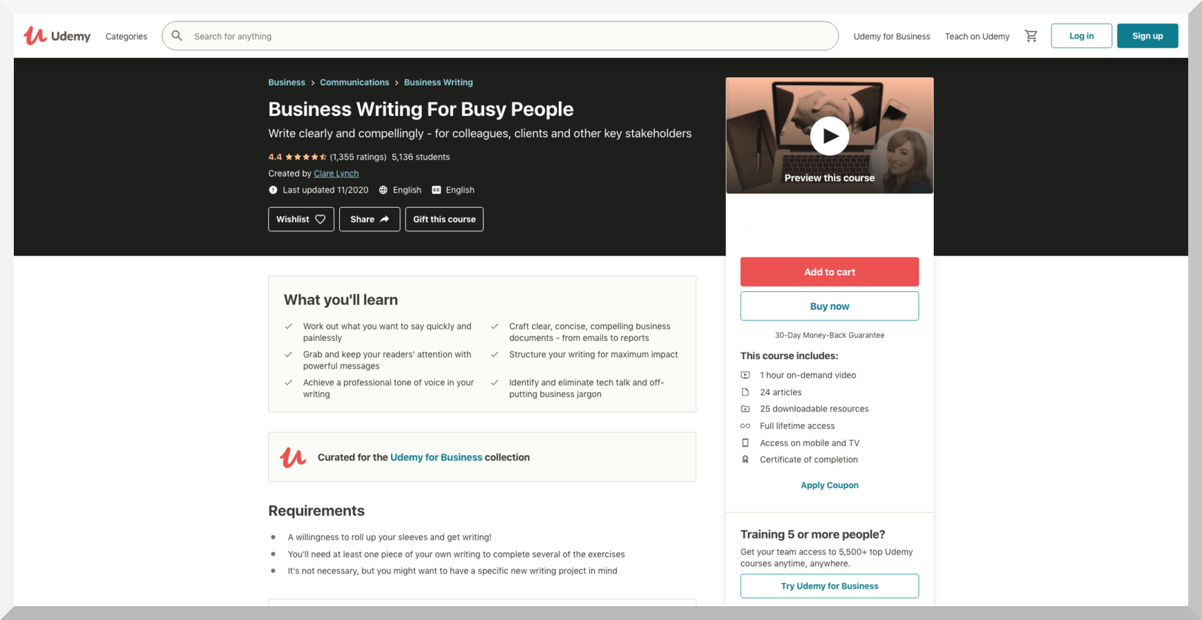 Business Writing for Busy People – Udemy