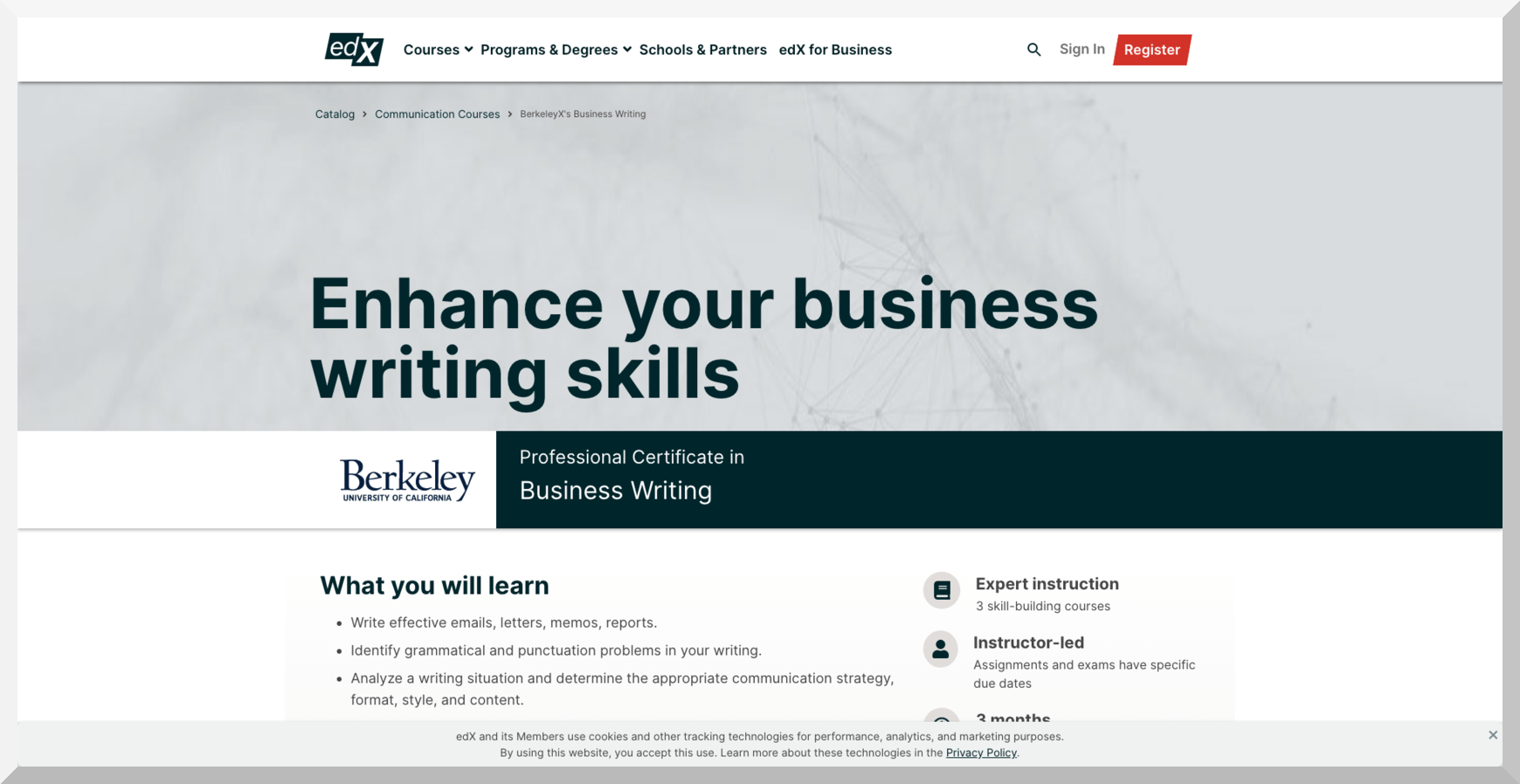 Enhance your business writing skills – edX