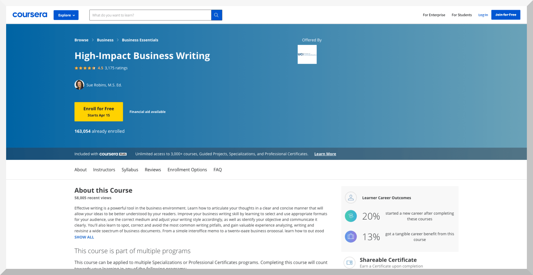 High-Impact Business Writing – Coursera