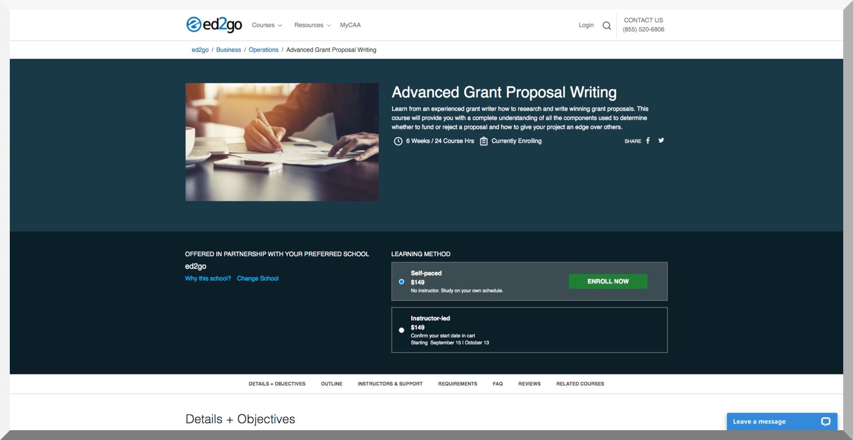 Advanced Grant Writing – Ed2go