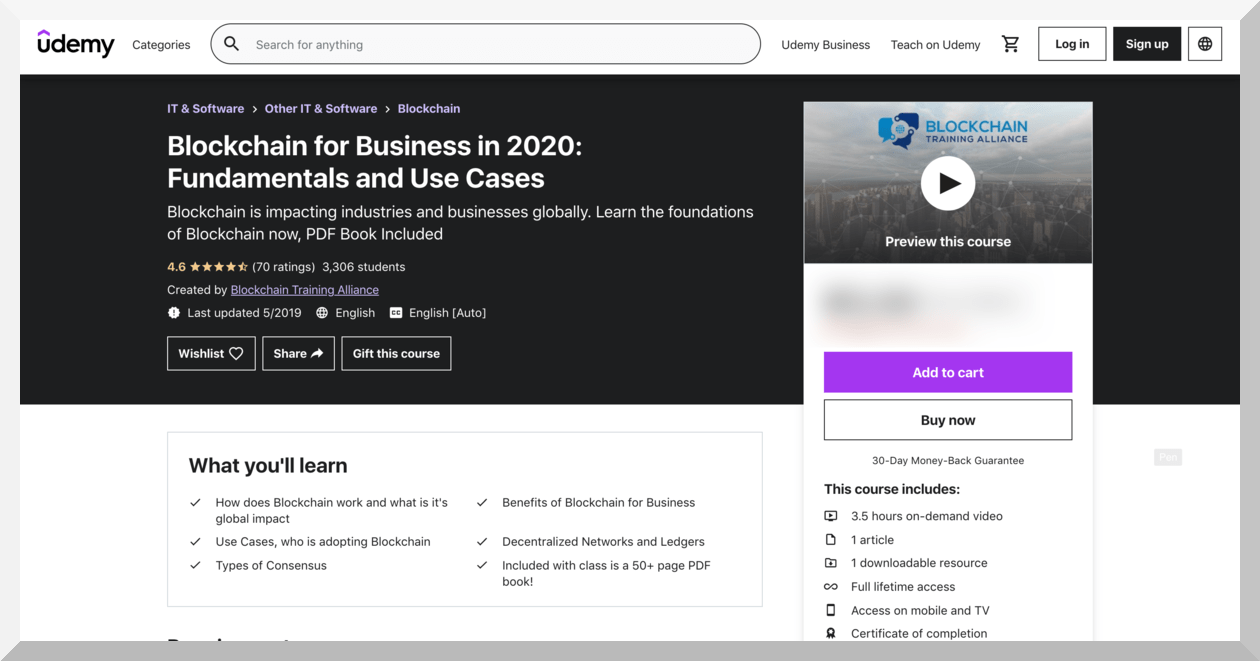 Blockchain for Business in 2020- Fundamentals and Use Cases