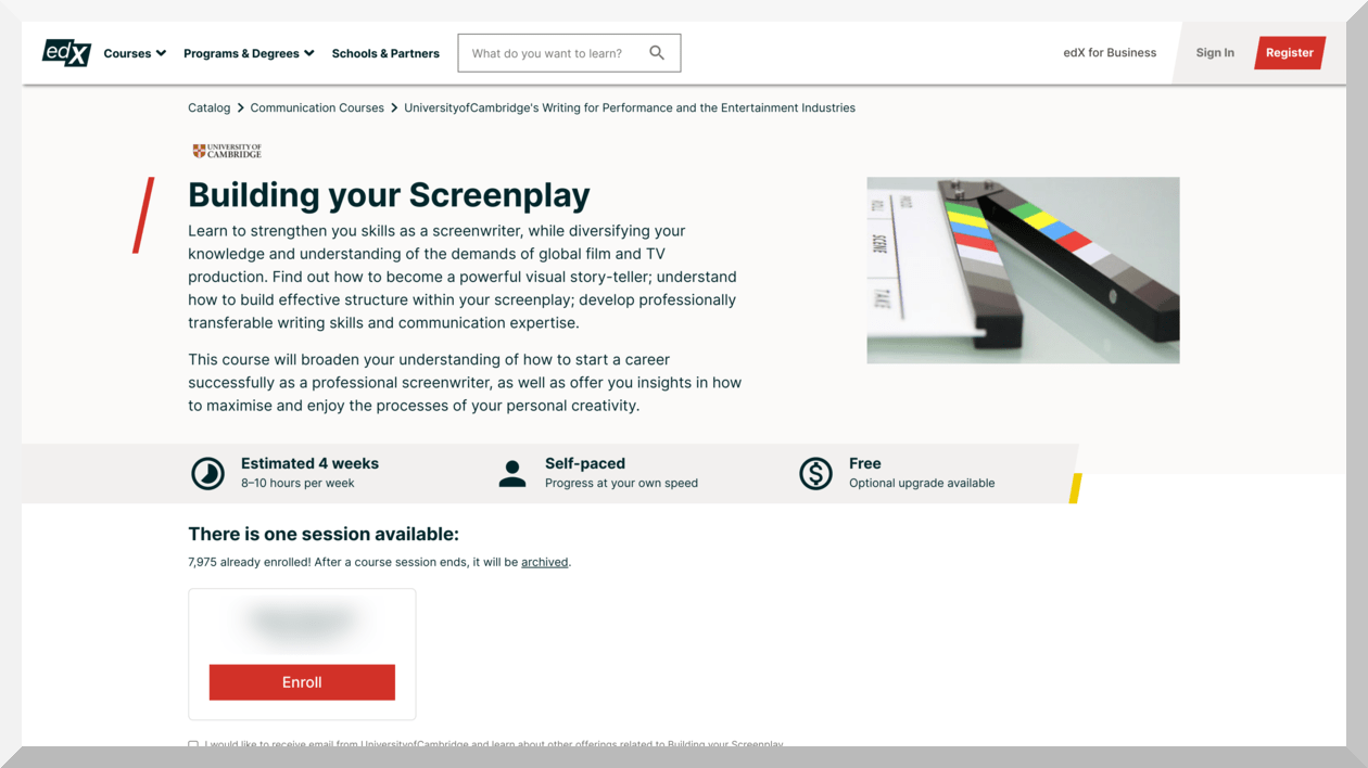Building Your Screenplay - edX