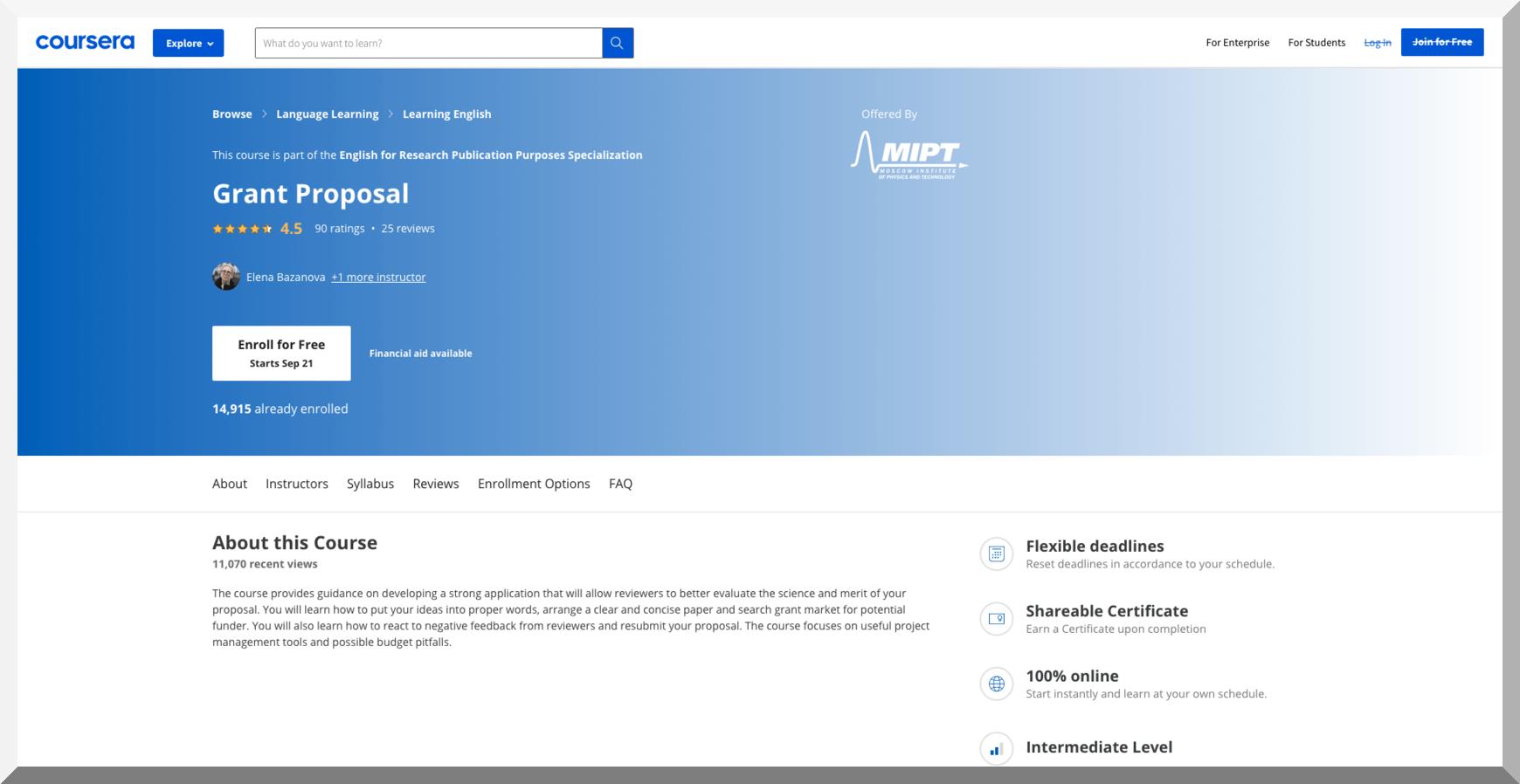 Grant Proposal – Coursera