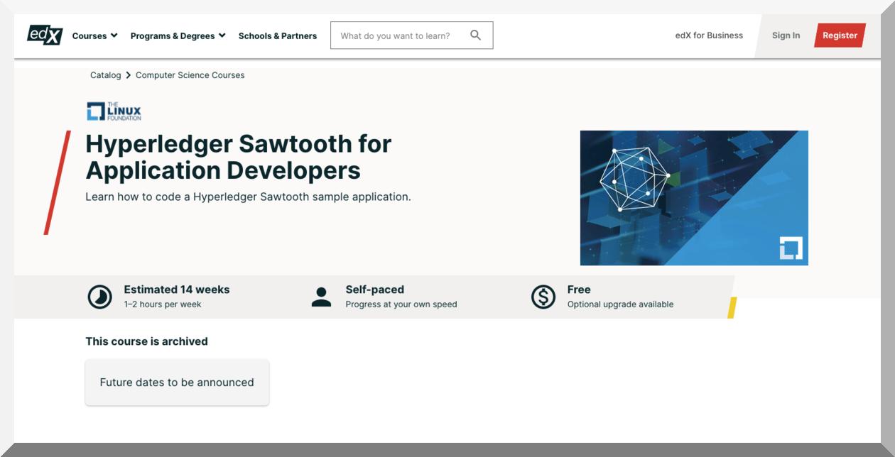Hyperledger Sawtooth for Application Developers