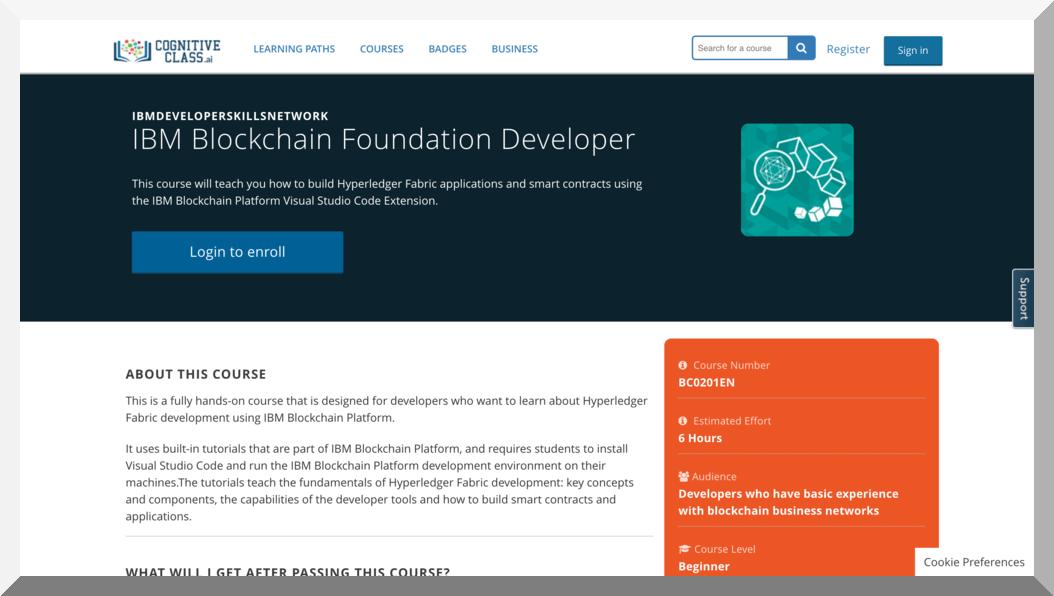 IBM Blockchain Foundation Developer