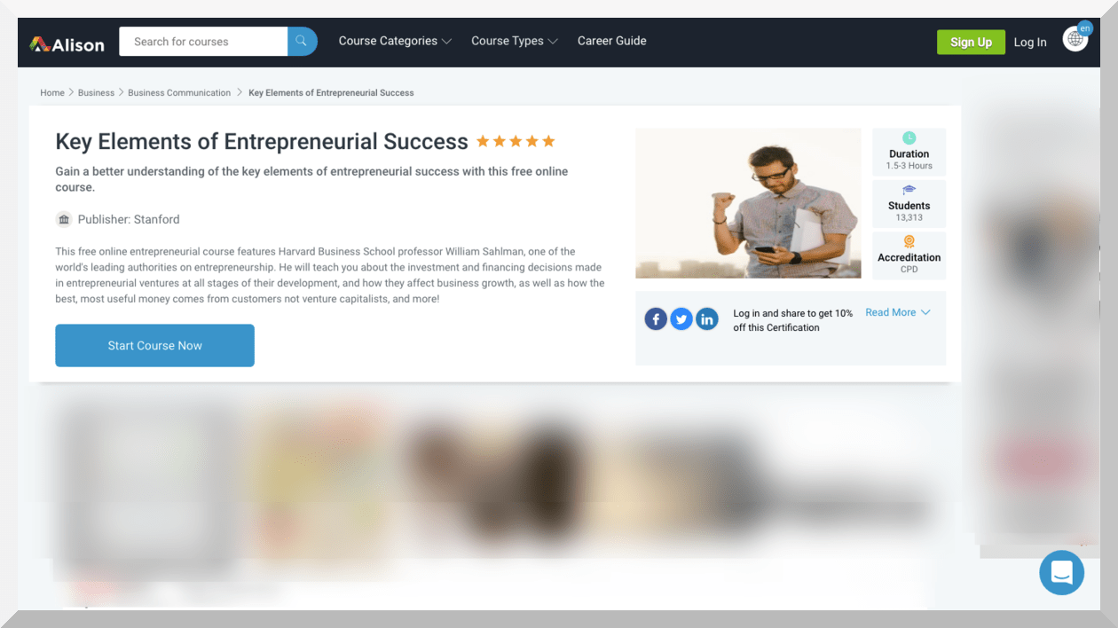 Key Elements of Entrepreneurial Success – Alison