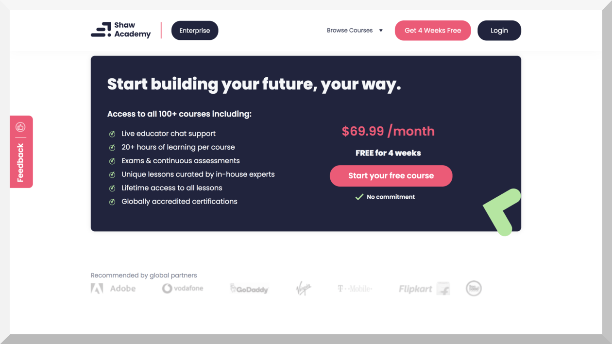 Shaw Academy Pricing